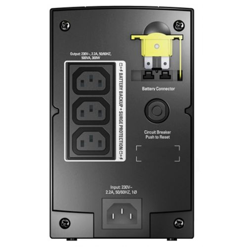 APC by Schneider Electric Back-UPS 500VA AVR IEC