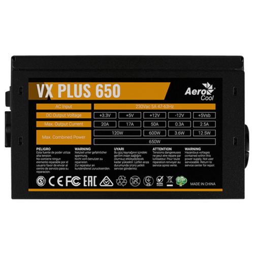 Aerocool VX PLUS 650