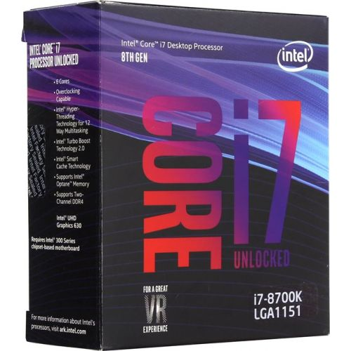 Intel Core i7-8700K Coffee Lake (3700MHz, LGA1151, L3 12288Kb) BOX