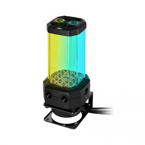 Помпа с резервуаром Corsair Hydro X Series XD5 RGB (D5 Pump reservoir unit) - Black