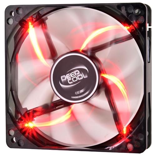 Вентилятор 12 DEEPCOOL Wind Blade RED 120x120x25мм (64шт./кор, пит. от мат.платы и БП, полупрозрачный,