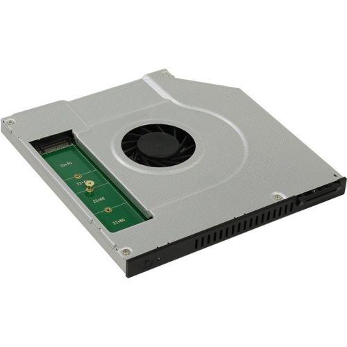 Mobile rack(optibay)  Espada SNC-9 Перех dvd slim9,5mm to hdd NGFF(M.2)/miniSATA, w/fan