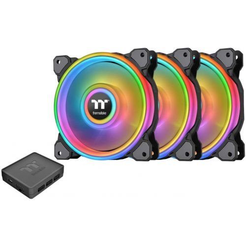 120 Thermaltake Riing Quad RGB (3 Pack) Black