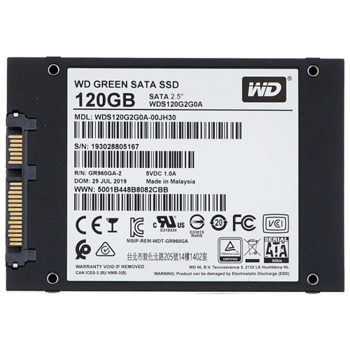 SSD диск 120GB WD Green WDS120G2G0A