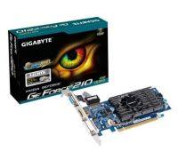 GIGABYTE GeForce 210 590MHz PCI-E 2.0 1024MB 1200MHz 64 bit DVI HDMI HDCP (GV-N210D3-1GI)