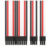 Комплект кабелей-удлинителей Custom Black-Red-White (24pin, 8pin CPU 2pcs, 8pin GPU 3pcs, 6pin GPU 1pcs)