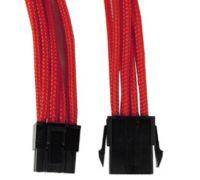 Удлинитель GELID 6+2-pin PCI-E, 30см, индивидуальная оплетка, красный CA-8P-08