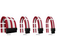 Комплект кабелей-удлинителей Custom Red-White (24pin, 8pin CPU 2pcs, 8pin GPU 3pcs, 6pin GPU 1pcs)