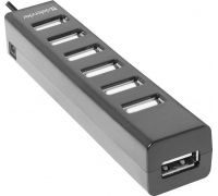 Концентратор USB2.0 Defender Quadro swift