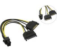 Переходник питания для видеокарт 2*SATA - 6pin Orient c513