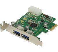Контроллер USB 3.0*2 LP Orient NC-3U2PELP