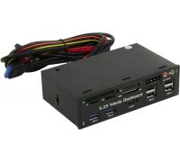 Front Panel Espada 5,25' Multi-Function Panel USB3.0-2;3,5мм,SD,USB2.0 (EHUBUSB3&4P2)
