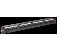 Патч-панель 24 порта кат.5e ITK PP24-1UC5EU-K05-G (Krone) GENERICA , черный
